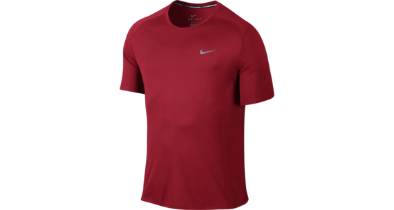 Nike Dri-FIT Miler SS Shirt Men University Red/Reflective Silver